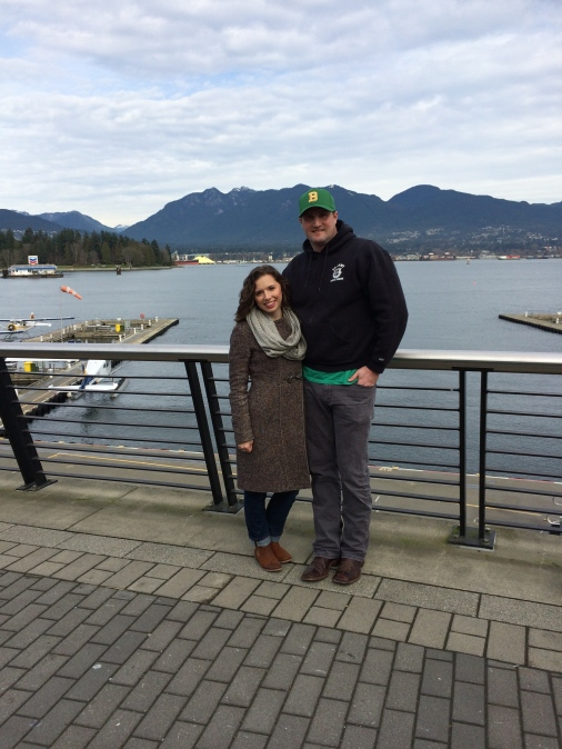 Tim and I on the waterfront