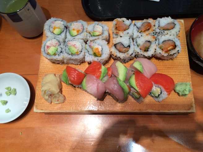 When I make sushi at home, it never looks this pretty.
