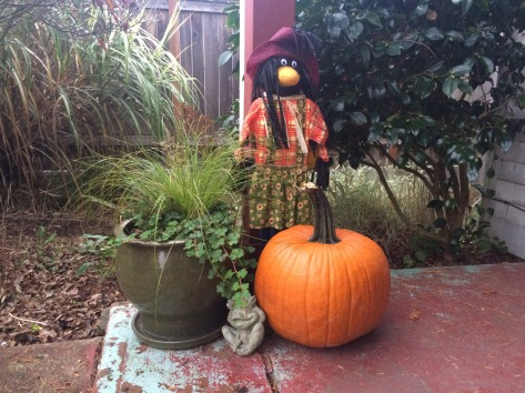 Who else is loving my $6 HomeDepot-impulse-buy scarecrow?! :)